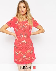 Needle & Thread Embellished Gilded Filigree Shift Dress