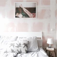 Image and raw walls credit @zus_interieur (Instagram) Resting Feet 01 by Julie Pike. Buy print at  https://paper-collective.com/product/resting-feet/ #papercollective #art #illustration #photography #print #poster #posterdesign #design #interior #home #decor #homedecor #wallart #artprint