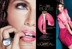 Sheer Neon Pink - French Bombshell Laetitia Casta is always suprême for L'ORÉAL PARIS