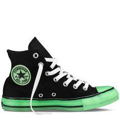 Converse - Chuck Taylor Glow in the Dark - Hi - Black/Glow yes please