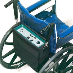 """APP Wheelchair & Pump System - Chair Air -   Includes Pump. Iindividual bladders alternate every 10 minutes to provide a comfortable pressure relieving seating surface. Zippered non-skid stretch-knit cover is anti-microbial and meets. California Tech Bulletin #117 for fire retardancy. Dimensions: 18"""" x 16"""" x 3-1/4"""" Weight: 4 Lbs. 1 year limited (pumps and mattress) and 6 months limited warranties. Portable alternating AC/DC pump allows the patient to be totally mobile."""