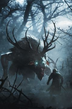 #Fiend is an official concept artwork for The Witcher 3: Wild Hunt, the video…