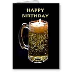 Happy Birthday ~ Beer Candle Greeting Card http://www.zazzle.com/have_a_beer_greeting_card-137849947381262368?rf=238756979555966366 Have A Beer: Give your friend a beer for their birthday. Fun creative candle beer card to celebrate a special day. Fun card for service member, candle maker, beer lover, etc. #Beer #BeerGreetingCard #HappyBirthday #Candle