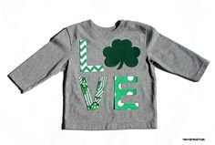St. Patrick's Day //L Shamrock V E //Fabric Iron On Letter Appliques//Twins//Siblings//Brother//Sister on Etsy, $7.95