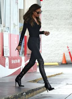 Naya Rivera - looking gorgeous in all black