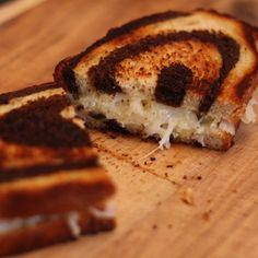 Grilled Cheese Sandwiches with Sauerkraut on Rye