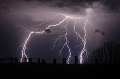 Boom! Lightning Strikes From Storm Clouds In New South Wales