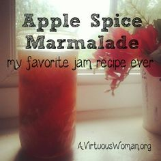 Apple Spice Marmalade {a canning recipe} | A Virtuous Woman #autumn #canning #preserves