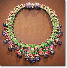 "Bling! Daisy Fellowes' famous Cartier ""Tutti Frutti"" necklace exhibited in San Francisco