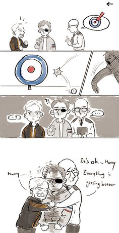 Harry Hart & Gary (Eggsy) Unwin, Merlin | Hartwin || Kingsman: The secret service