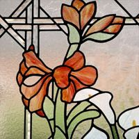 Flower Garden - stained and leaded glass window