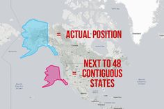 Back to Alaska – this map shows that, while it's still the biggest US state, it's nowhere near <i>as</i> big as most maps make it look.