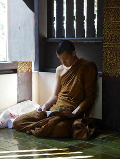 monk reading
