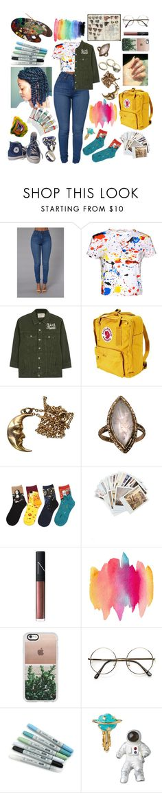 """""""We don't do the same drugs no more💜"""" by raven-so-cute ❤ liked on Polyvore featuring Alice + Olivia, Sandrine Rose, Fjällräven, Converse, Chronicle Books, NARS Cosmetics, Casetify and Anello"""