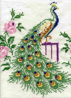 This post was discovered by mü Cross Stitch Bird, Simple Cross Stitch, Cross Stitch Animals, Cross Stitching, Cross Stitch Patterns Free Easy, Cross Stitch Charts, Cross Stitch Designs, Blackwork Embroidery, Cross Stitch Embroidery