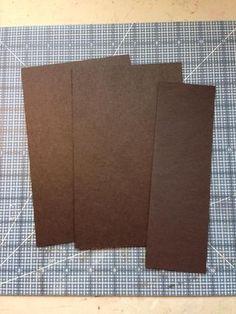 "Cut two 5"" x 8"" and one 2 1/2"" x 8"" pieces of medium weight chip board Mini Albums, Diy Mini Album, Mini Album Tutorial, Mini Scrapbook Albums, Scrapbook Paper Crafts, Scrapbook Recipe Book, Cascading Card, Envelope Punch Board, Book Journal"