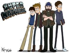 SPN Gravity Falls Crossover Part 2 by ~k8y411 on deviantART // WHAT HAPPENED TO SAM'S GLORIOUS HAIR THOUGH?!!