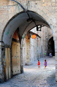 Jerusalem - Old City  (the pin via Elisheva Roos http://www.pinterest.com/pin/550916966892569415/ )