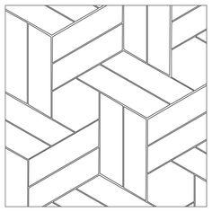헤링본 cool tattoos - Tattoos And Body Art Barn Quilt Patterns, Tile Patterns, Tile Design, Glass Design, Design Design, Geometric Art, Geometric Designs, Paredes Chevron, Motif Art Deco
