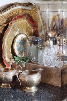 All Collectible, Gorgeous Florentine Trays, Silver Pieces, Shaker Bottles--Cannot Have Too Many!