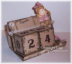 Stempeleinmaleins: Würfelkalender / Cube Calendar