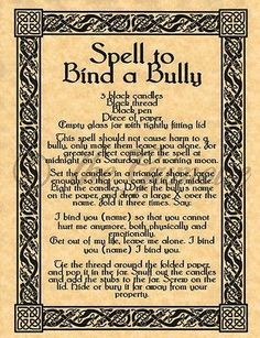 about Ritual to Break a Hex Curse Evil Eye Wicca Book of Shadows Pagan Occult Spell Spell to Bind a Bully, Book of Shadows Spells Page, Witchcraft, Wicca, Pagan Magick Spells, Wicca Witchcraft, Wiccan Witch, Curse Spells, Witch Spells Real, Wicca Runes, Dark Magic Spells, Hoodoo Spells, Wiccan Magic