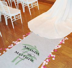 Personalized Beach Wedding Aisle Runner