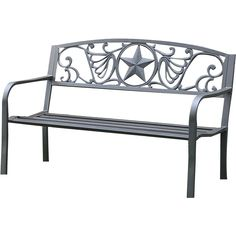 Sedona Bench (€180) ❤ liked on Polyvore featuring home, outdoors, patio furniture, outdoor benches, cast iron park bench, jordan manufacturing, cast iron outdoor bench, outdoor furniture and outdoor garden bench