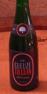 Oude Gueuze Tilquin à l'Ancienne (6.0% alc/vol) is a spontaneous fermentation beer, produced from the blending of 1, 2 and 3 years old lambics. It is unfiltered and unpasteurized, and refermented in the bottle for at least 6 months. The lambics used were fermented and oak aged in our installations. These lambics are coming from worts brewed by Boon, Lindemans, Girardin and Cantillon breweries.