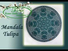 Mandala Tulipa 100 cm haken Crochet Dreamcatcher, Crochet Mandala, Mandala Pattern, Crochet Doilies, Dream Catcher, Crochet Patterns, Homemade, Make It Yourself, Stitches