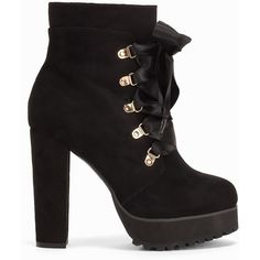 Nly Shoes Platform Bow Boot (93 CAD) ❤ liked on Polyvore featuring shoes, boots, faux suede boots, faux suede shoes, zip boots, high heel platform boots and bow shoes