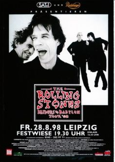 This was the Second Rolling Stones Concert in Leipzig. This was my second time to see The Rolling Stones live and . Rock Posters, Music Posters, Los Rolling Stones, Vintage Concert Posters, Music Tours, Picture Albums, Rock Concert, Poster Pictures, Janis Joplin