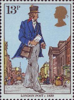 13p Stamp (1979) London Post, c 1839