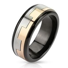 Castle Wall Ring By Blue Steel Get Your's Here #BuyBlueSteel #Ring #WeddingRing #Mens #Jewelry