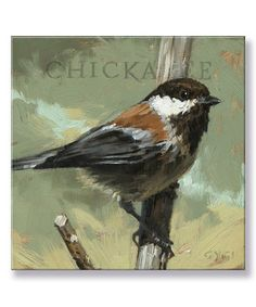 Look what I found on #zulily! Chickadee Giclee Gallery-Wrapped Canvas #zulilyfinds