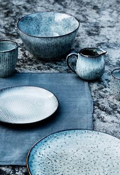 Blue Stoneware