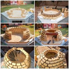 Tutorial showing how I built a wood fired Neapolitan style pizza oven in my backyard. All by myself. While I was pregnant. Tutorial showing how I built a wood fired Neapolitan style pizza oven in my backyard. All by myself. While I was pregnant. Build A Pizza Oven, Pizza Oven Outdoor, Brick Oven Outdoor, Stone Pizza Oven, Oven Diy, Bread Oven, Four A Pizza, Wood Oven, Wood Fired Oven