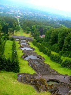Kassel, looking down from Hercules monument