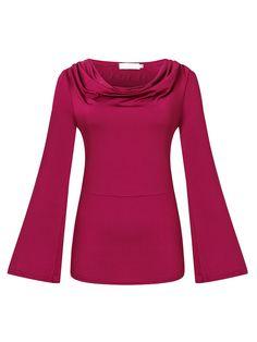 Sale 11% (23.29$) - Sexy Solid Long Sleeve Hollow Out Women Irregular Slim T-Shirt