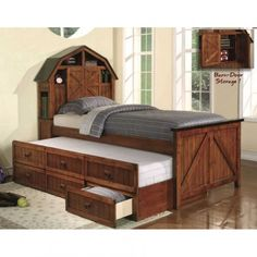 Theme Kids Captain Bed With Storage And Trundle Beds
