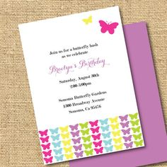 printable butterfly invitation