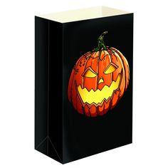 Plastic Jack-O'-Lantern Luminaria Bags (12-Count), Multi