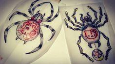 +++STA.DEMONIA TATTOO BARCELONA APRENTICE:SARA+++ www.stademonia.com #StaDemonia #Tattoo #Barcelona #Aprendiz #Sara #Aprentice #OldSchool #Tradicional #Flash #Witch #BlackWiddow #Spider #Cute