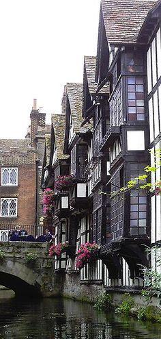 ~Huguenot weavers' houses near the High Street in Canterbury, England, UK~