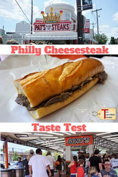 We try to answer the age old question - Pat's vs Geno's Cheesesteaks which is best? - through our Philly cheesesteak whiz whit taste test. | Philadelphia