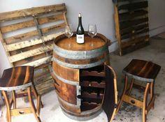 very cool wine bar and storage.