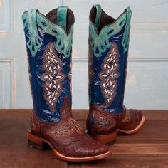 Just fell in love! Lucchese Ladies' Full Quill Ostrich Boots