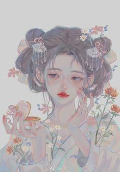 Art Anime, Anime Art Girl, Anime Witch, Anime Angel Girl, Girly Drawings, Estilo Anime, Fairytale Art, Digital Art Girl, Manga Illustration