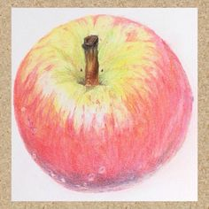 ✏️Autumn Apple - colour pencil (Derwent pro colour) realism drawing. Hoping to add a bit more to it. 😉