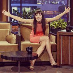 Whitney Cummings puts her impressive wingspan on display. Whitney Cummings, Tonight Show, Display, Floor Space, Billboard
